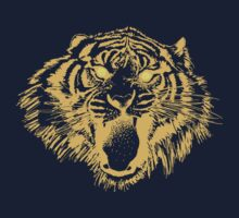Growling Tiger in Orange With Yellow Eyes Baby Tee