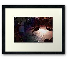 Watermark Mickey Framed Print