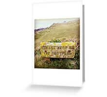 Please Keep to the Footpath Greeting Card