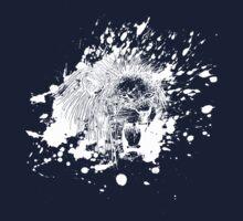 Roaring Lion in White Splash One Piece - Long Sleeve