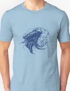 Hermit Crab in Dark Blue T-Shirt