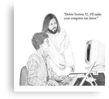 IT Tech Jesus Canvas Print