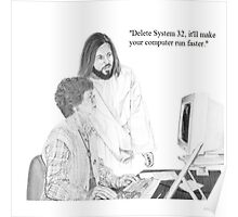 IT Tech Jesus Poster