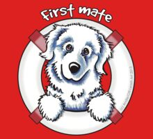 Great Pyrenees :: First Mate Baby Tee
