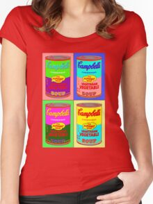 Vegetarian Campbell's Warhol Tribute Women's Fitted Scoop T-Shirt