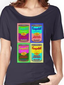 Vegetarian Campbell's Warhol Tribute Women's Relaxed Fit T-Shirt