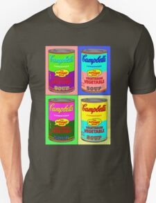 Vegetarian Campbell's Warhol Tribute Unisex T-Shirt