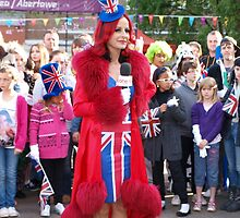 Carrie Grant - Union Jack Dress by Damien Rosser Photography