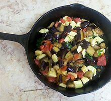 Eggplant And Zucchini with Tomatoes by Michael Redbourn