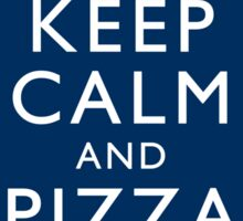 Keep Calm and Pizza Booze Telly Sticker
