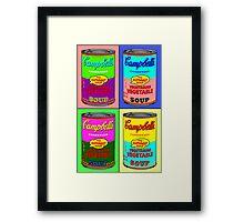 Vegetarian Campbell's Warhol Tribute Framed Print
