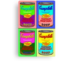Vegetarian Campbell's Warhol Tribute Canvas Print