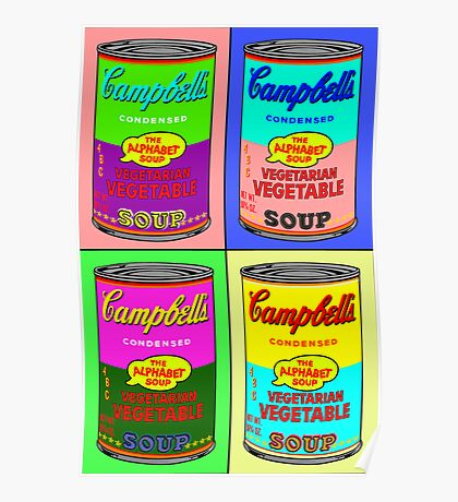 Vegetarian Campbell's Warhol Tribute Poster