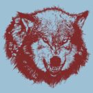 Angry Wolf in Red by pjwuebker