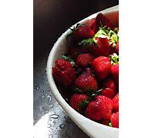 Sunshine and Strawberries Photographic Print