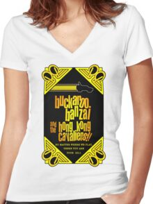 Buckaroo Banzai 2011 Tour - Yellow Version 2 Women's Fitted V-Neck T-Shirt