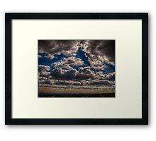 Storm Clouds Over Calderdale, England Framed Print
