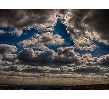 Storm Clouds Over Calderdale, England Photographic Print