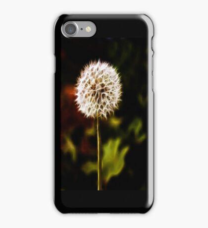 Puffball flower dandellion iPhone Case/Skin