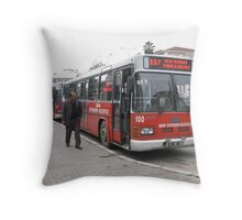 The bus in Adana Throw Pillow