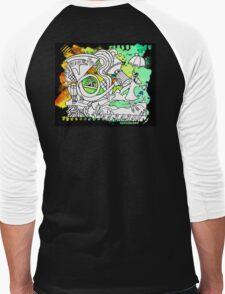 """French Horn"" Great Graffiti Graphics  Men's Baseball ¾ T-Shirt"