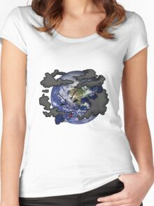 Stop Pollution Women's Fitted Scoop T-Shirt