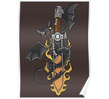 Toothless & Sword Tat Poster