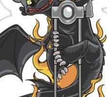 Toothless & Sword Tat Sticker