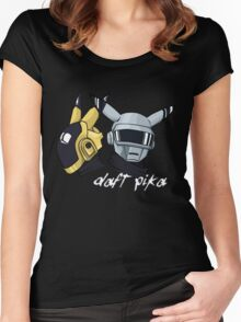 Daft Punk - Pikachu version (color) Women's Fitted Scoop T-Shirt