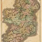 Vintage Map of Ireland (1831) by alleycatshirts