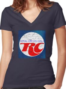 Vintage RC Cola design Women's Fitted V-Neck T-Shirt