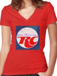 Vintage RC Cola design Women's Fitted V-Neck T-Shirt