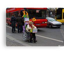 man on wheelchair Canvas Print