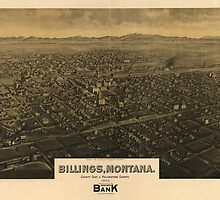 Vintage Pictorial Map of Billings Montana (1904) by alleycatshirts