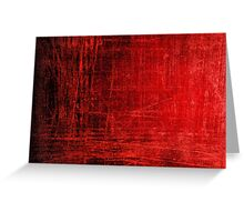 creepy red scratches  Greeting Card