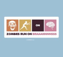 Zombies Run On Brains!! Kids Tee