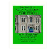 Ottawa goes GREEN May 11th 2013 Art Print
