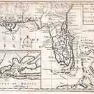 Vintage Map of Florida (1763) by alleycatshirts