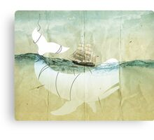 Moby Dick, the crusade Canvas Print