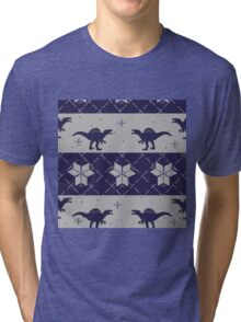 Deck The Halls With Dinosaurs Tri-blend T-Shirt