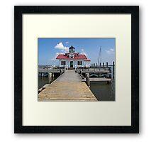 Roanoke Marshes Replica Lighthouse Framed Print