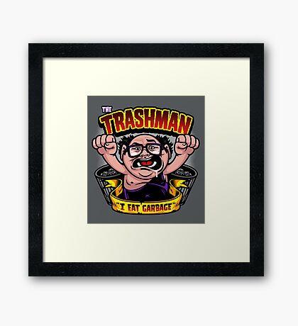 The Trashman Framed Print