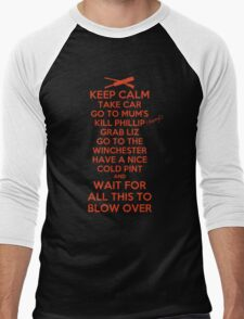 Keep Calm and Blow Over Men's Baseball ¾ T-Shirt