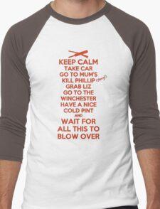 Keep Calm and Blow Over Men's Baseball ¾ T-Shirt