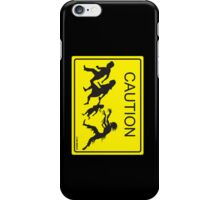 CAUTION Zombie Crossing! iPhone case iPhone Case/Skin