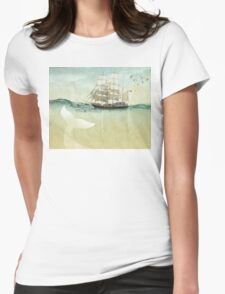 White Tail Womens Fitted T-Shirt