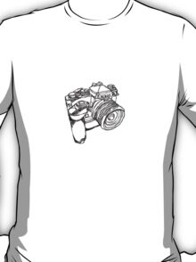 Nikon FE with MD-12 Motor Drive Drawing T-Shirt
