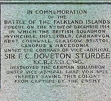 1914 War Memorial, Stanley, Falkland Islands by Geoffrey Higges