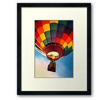 Hot Air Balloon in Flight Framed Print