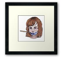 Blue. Framed Print